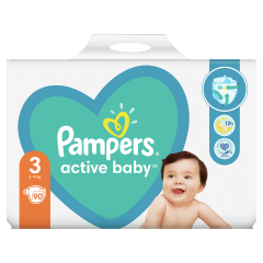 Pampers Active Baby, 3-as Méret, 90 db Pelenka, 6–10 kg