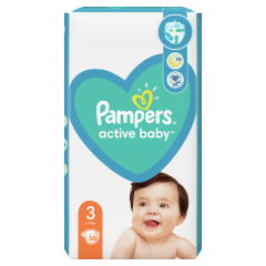 Pampers Active Baby, 3-as Méret, 58 db Pelenka, 6–10 kg