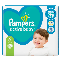 Pampers Active Baby, 6-as Méret, 36 db Pelenka, 13–18 kg
